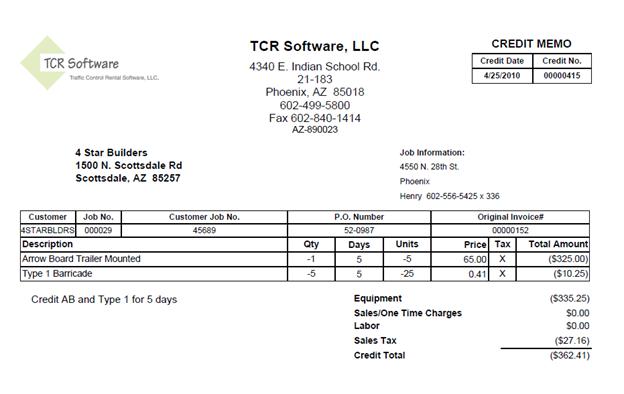 credit debit memo processing tcr software